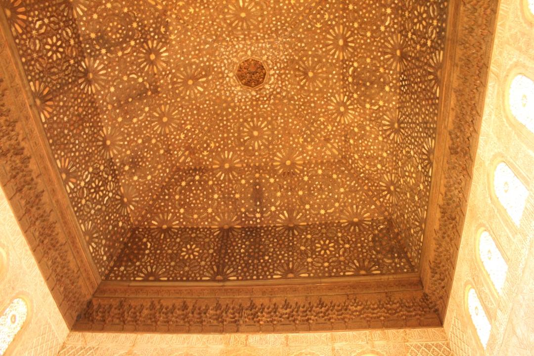 Sala Ambasadorilor- plafonul cu reprezentarea Raiului