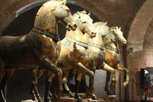 Cei 4 cai de bronz poleiti-original, Venetia