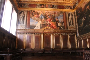 Sebastiano Venier multumind Mantuitorului dupa batalia de la Lepanto de Paolo Veronese