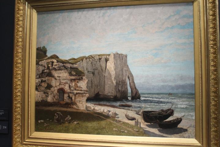 """Gustave Coubert, """"La falaise d'Etretat après l'orage"""""""
