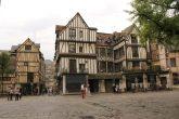 Casa encorbellement din secolul XIV, Rouen