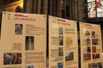Panou informativ, Ioana d'Arc, Catedrala din Rouen