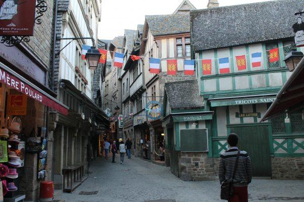Le Mont Saint Michel, Franta, pe stradute