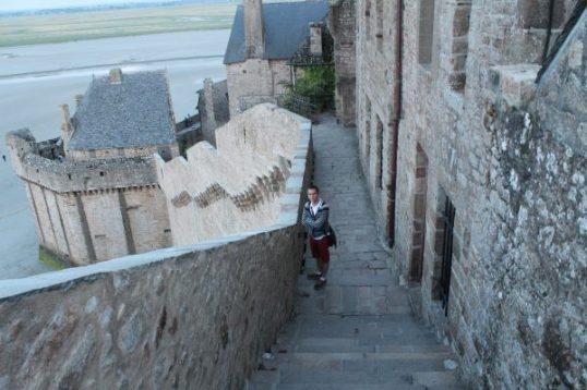 Coborarea de pe Muntele Saint Michel, Franta