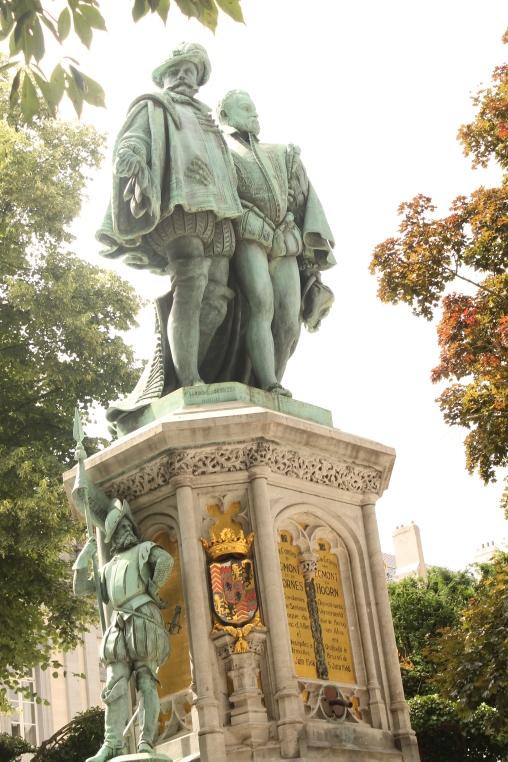 Contii d'Egmont si de Hornes decapitati in Grand Place