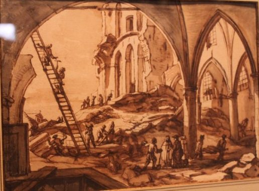 Tablou, Bombardamentul Bruxelles-ului 1695