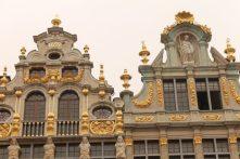 Fatada unei cladiri din Grand Place, Bruxelles, anul 1697