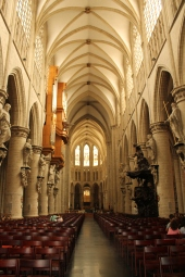 Catedrala Saint Michel et Gudule-interior, nava