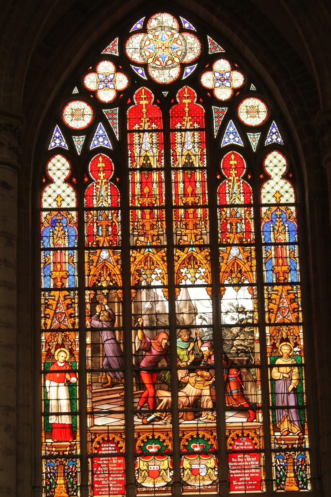 Vitraliu din Catedrala Saint Michel et Gudule