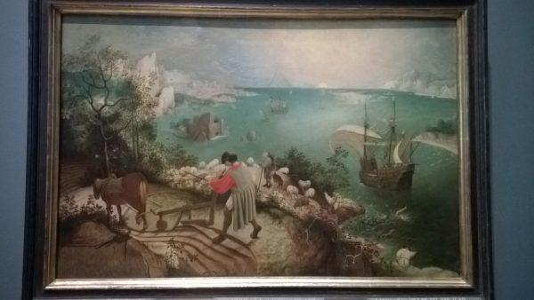 """""""Caderea lui Icar"""", Pieter Bruegel"""