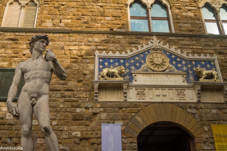 David, Michelangelo, Palazzo Vecchio, Florenta