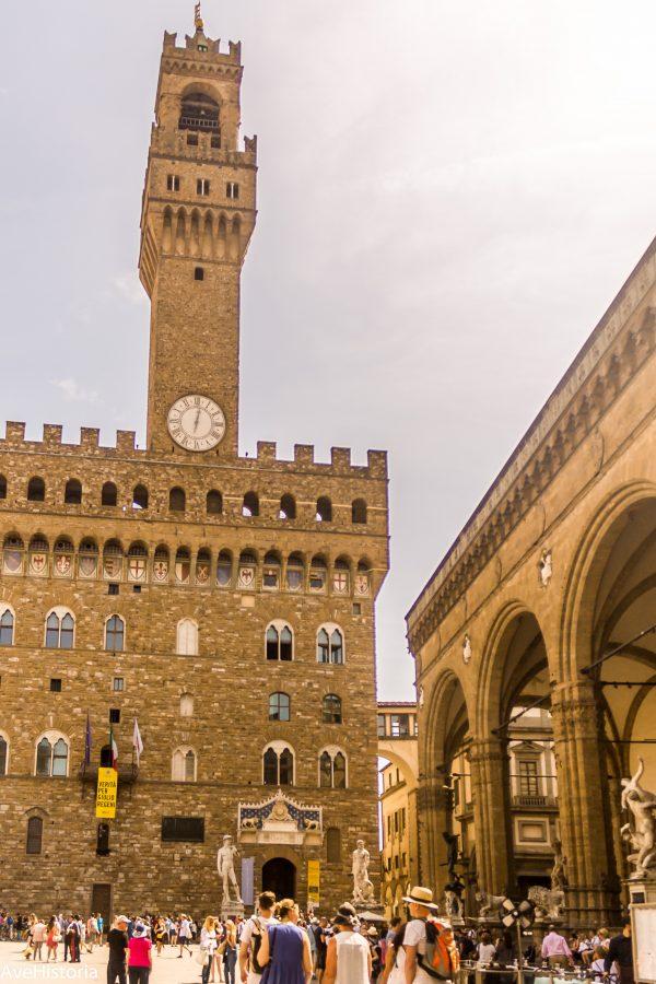 Palazzo Vecchio si Loggia dei Lanzi, Florenta