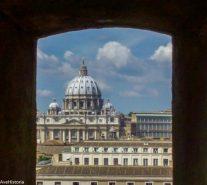 Basilica di San Pietro, Vatican. Vedere din Castel Sant'Angelo