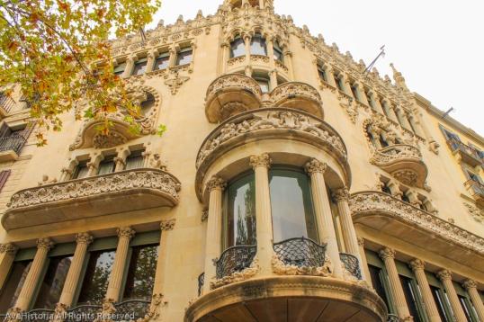 Casa Lleó Morera, arhitect Lluis Domènech i Montaner.