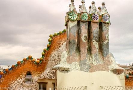 Casa Batllo, acoperis, Barcelona