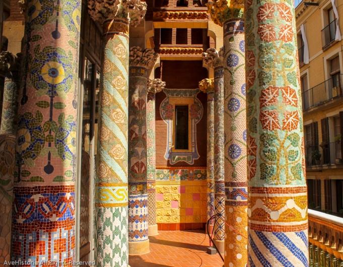 Balconul sălii Lluis Millet, Palatul de muzica catalana
