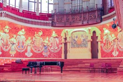 Palatul de muzica catalana, scena