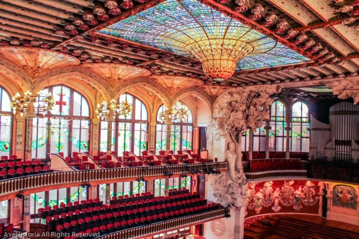 Palatul de muzica catalana, cupola, Barcelona