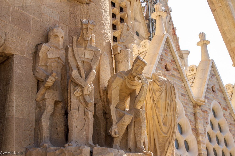 Fatada crucificarii lui Iisus, Sagrada Familia