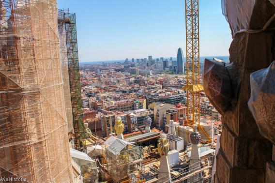 Vedere din turnul Sagradei Familia, Barcelona