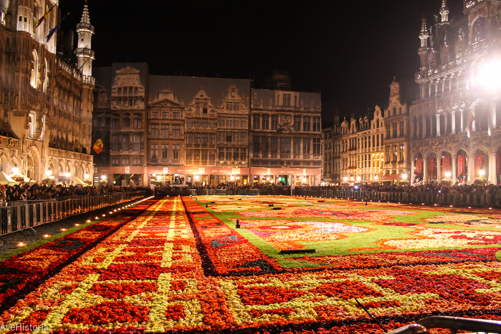 Covorul cu flori, Bruxelles