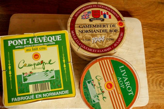 Branzeturi normande, Camembert, Livarot Pont-l Eveque