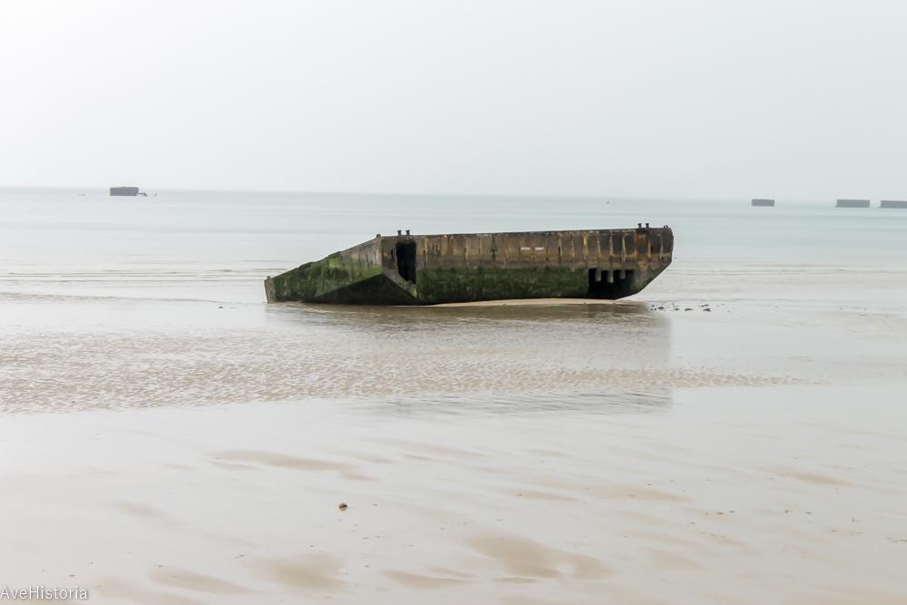 Arromanches, portul flotant, Franta