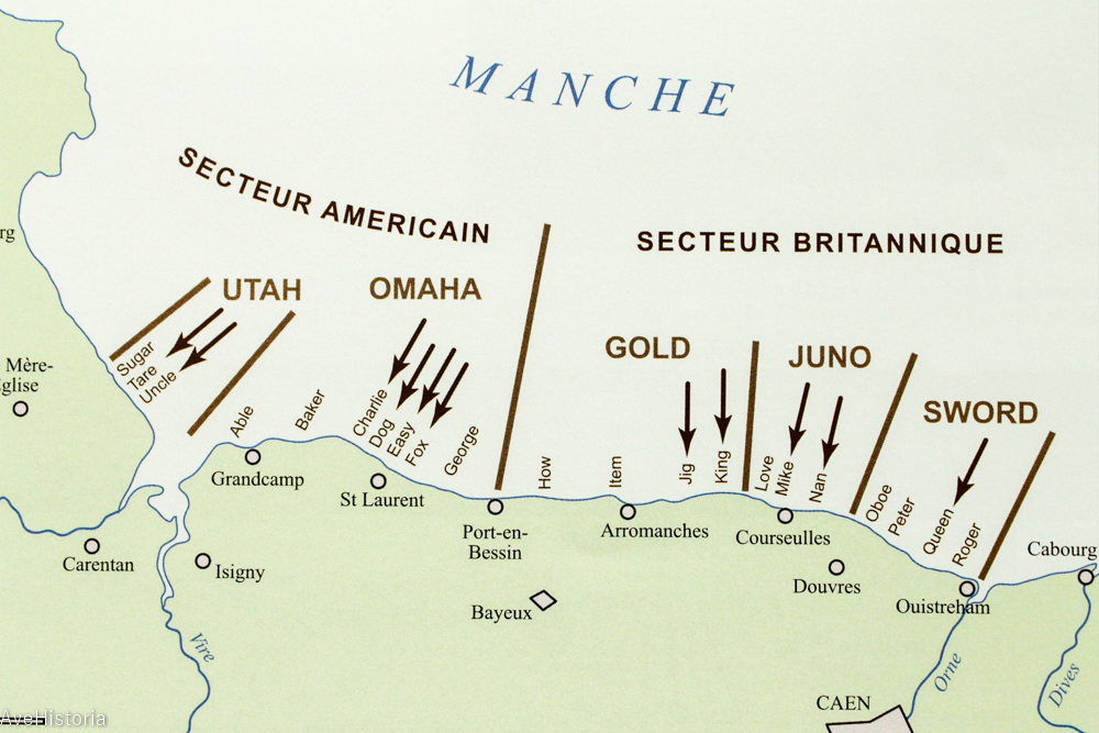 Sectoarele Debarcarii in Normandia 1944