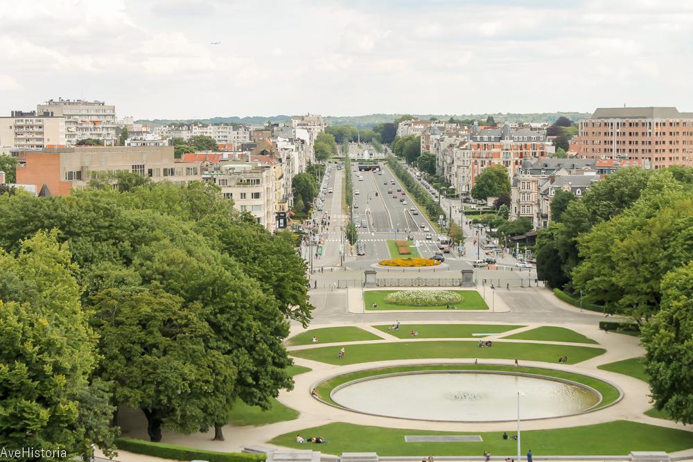 Arcada Cinquantenaire, vedere de sus, Bruxelles