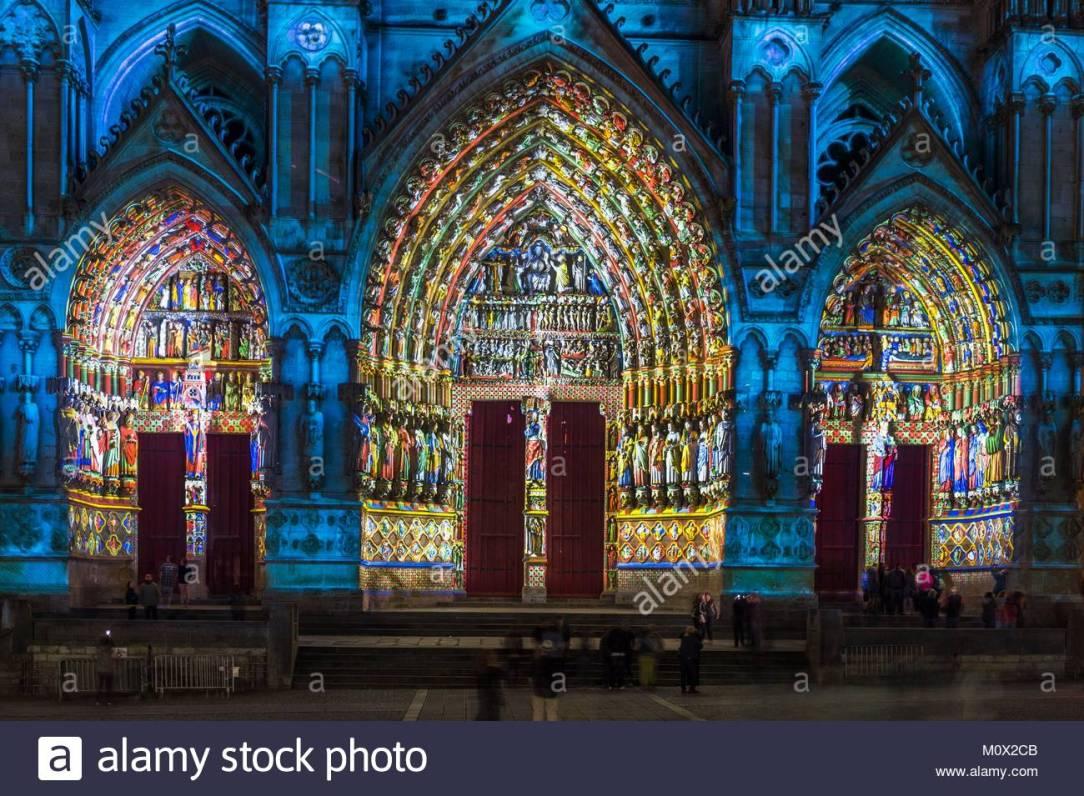 Amiens catedrala- son et lumier