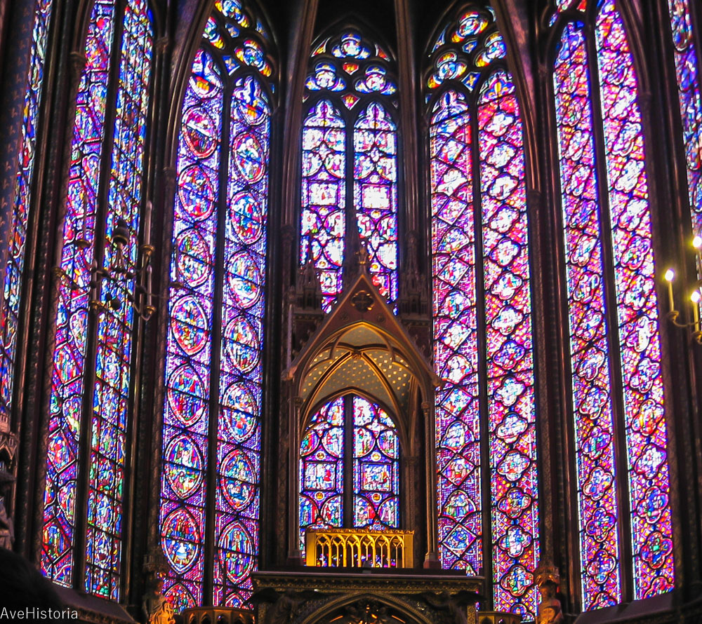 Sainte Chapelle, Paris, vitralii
