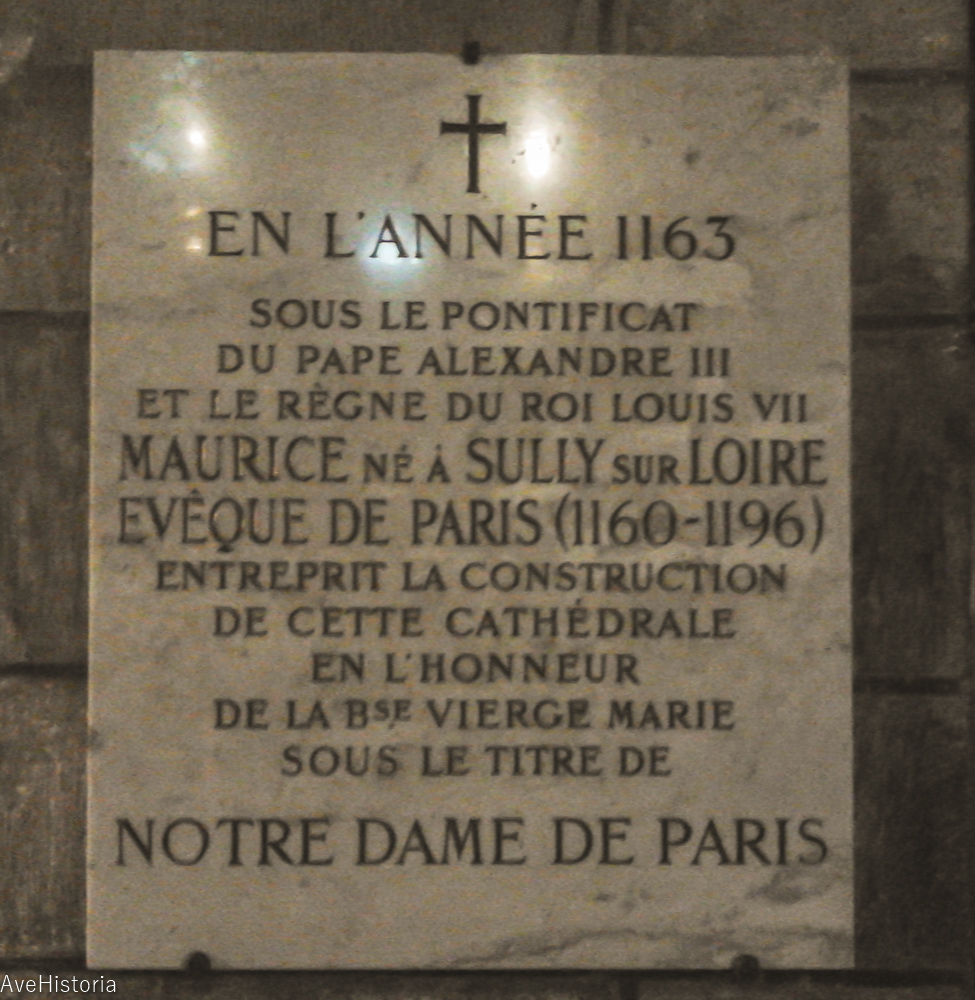 Notre-Dame din Paris, placa comemorativa