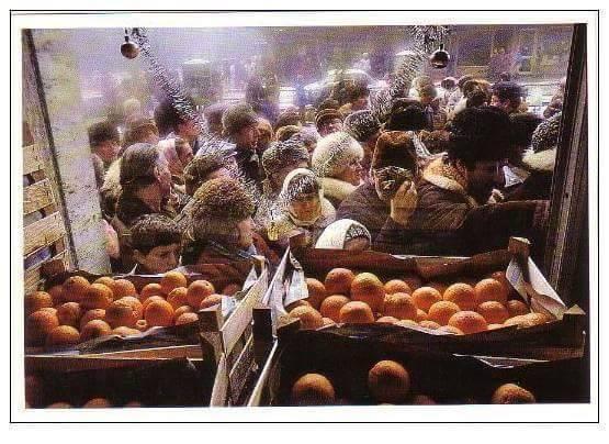 coadă la portocale in comunism