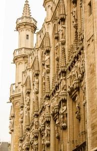 Hotel de ville, Bruxelles, exterior, stanga
